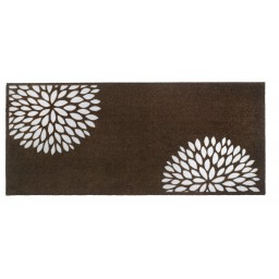 Universal flowers taupe 67x150 917 Gerollt - MD Entree