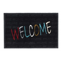 Impression welcome multi black 40x60 339 Laying - MD Entree