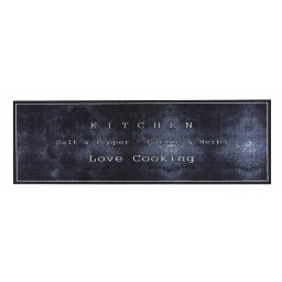 Cook&Wash love cooking black 50x150 690 Laying - MD Entree