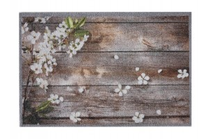 Impression flowers on wood