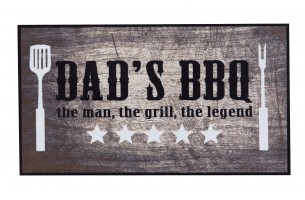 BBQ mat dad's bbq the man