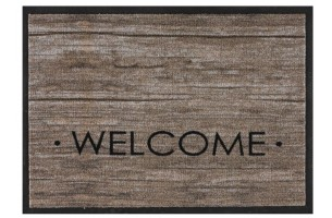 Impression wood welcome