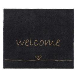 Walk&Wash welcome heart anthra 67X80 805 Liggend - MD Entree