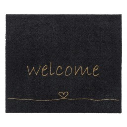 Walk&Wash welcome heart anthra 67X80 805 Hangend - MD Entree
