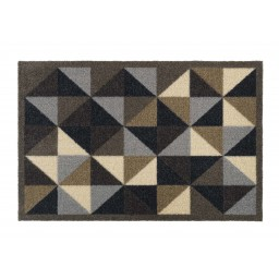 Ambiance geometry taupe 50x75 317 Hangend - MD Entree