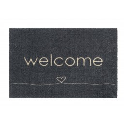 Ambiance welcome heart anthra 50x75 807 Liggend - MD Entree