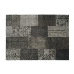 Soft&Deco carpet patchwork taupe 140X200 917 Liggend - MD Entree