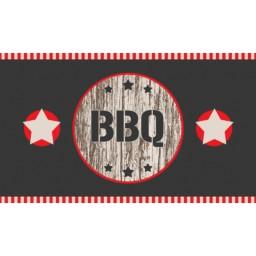 BBQ mat bbq 2 stars wood 67x120 530 Liggend - MD Entree