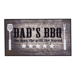 BBQ mat dad's bbq the man 67x120 220 Liggend - MD Entree