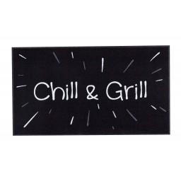 BBQ mat chill & grill black 67x120 350 Liggend - MD Entree