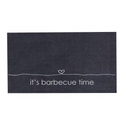 BBQ mat it's barbecue time 67x120 360 Liggend - MD Entree