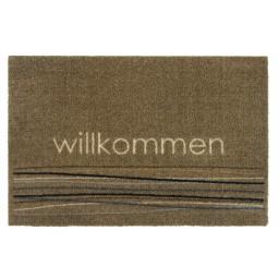 Ambiance Willkommen lines beige 50x75 417 Hangend - MD Entree